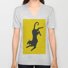 Yellow Panther Unisex V-Neck