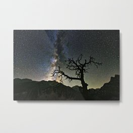 Star Tree Milky Way Metal Print