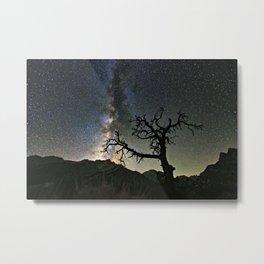 Star Tree Milky Way Metal Print