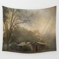 farm Wall Tapestries featuring Foggy Farm by kelly*n photography
