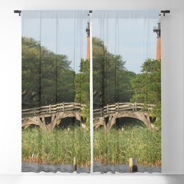 Currituck Light and Historic Bridge Blackout Curtain