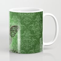 decorative Mugs featuring Decorative butterfly by nicky2342