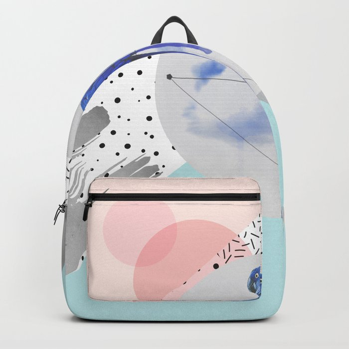 Abstract & bird Backpack