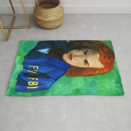 Agent Scully FBI Rug