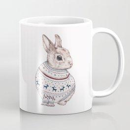 sweater rabbit Coffee Mug