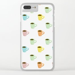 Coffee Pattern Clear iPhone Case
