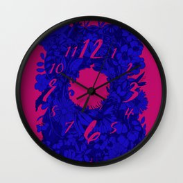 Electric Florals Wall Clock