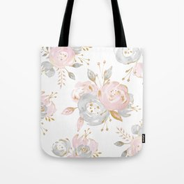 Roses Gold Glitter Pink by Nature Magick Tote Bag