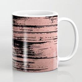 Modern black brushstrokes elegant faux rose gold Coffee Mug