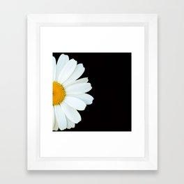 Hello Daisy - White Flower Black Background #decor #society6 #buyart Framed Art Print