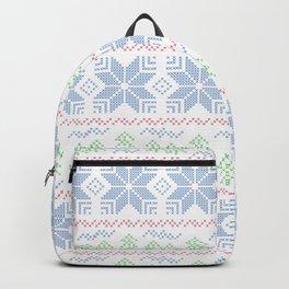 Christmas pattern. Cross-stitch Backpack