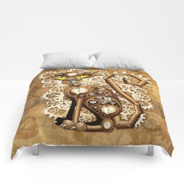 Steampunk Cat Vintage Style Comforters