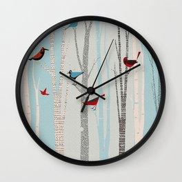 Winter Birds / 03 Wall Clock