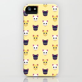 Maneki neko pattern iPhone Case