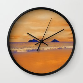Lani Kai and the Fire Sky Wall Clock