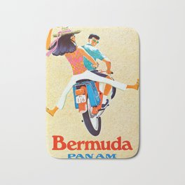 Bermuda by Clipper - Vintage Air Travel Travel Poster Bath Mat