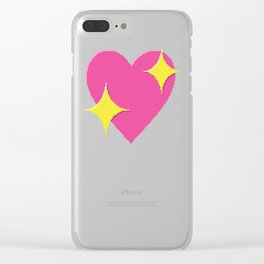 Sparkling Heart Clear iPhone Case