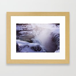 Magic waterfall Framed Art Print