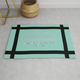 I'm not Clumsy... Funny saying  Rug