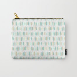 Turquoise Green Strokes Carry-All Pouch