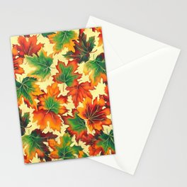Autumn maple leaves I Stationery Cards