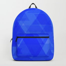 Gentle dark blue triangles in the intersection and overlay. Backpack