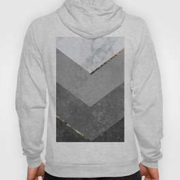 Marble Gray Copper Black Gold Chevron Hoody