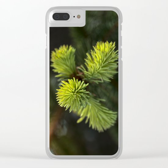 New Growth Pine Needles Clear iPhone Case