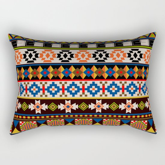 Colourful tribal Aztec patterns Rectangular Pillow