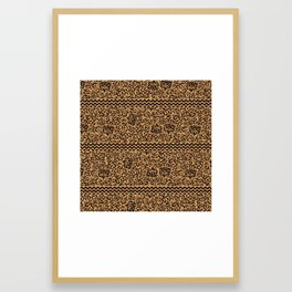Golden Renaissance Damask Framed Art Print