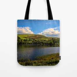 Dolymynach Reservoir, Rhayader Tote Bag