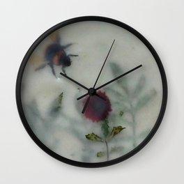 Bee in the Garden (encaustic) Wall Clock