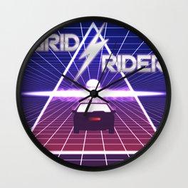 Grid Rider Wall Clock