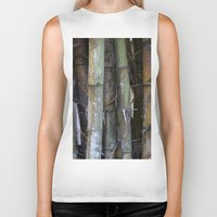 bamboo Biker Tanks featuring bamboo by rchaem