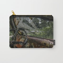 Dashed Board Abandoned Truck Dashboard Shattered Windshield Rusty Car Carry-All Pouch