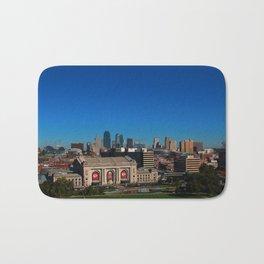 Union Station and Kansas City Skyline Bath Mat