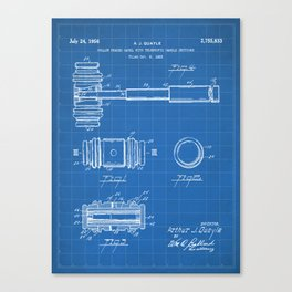 Judge Gavel Patent - Lawyer Art - Blueprint Canvas Print