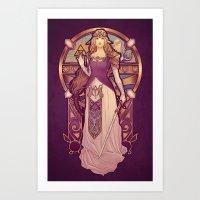 nouveau Art Prints featuring Hylian Nouveau by Megan Lara