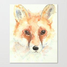 Watercolour Fox Canvas Print