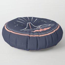 Iddu or Volcan Stromboli Floor Pillow