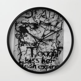 Kiss her flesh expire  Wall Clock