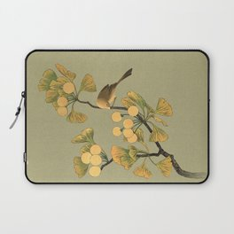 Bird in Ginkgo Tree Laptop Sleeve