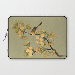 Bird in Ginkgo Tree Laptop Sleeve