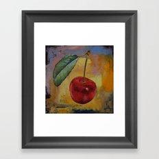 Vintage Cherry Framed Art Print