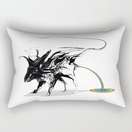 Rat and rainbow. Black on white background-(Red eyes series) Rectangular Pillow