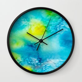 Abstract Watercolour Wall Clock