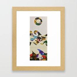 japanese waves inspiration (dark version) Framed Art Print