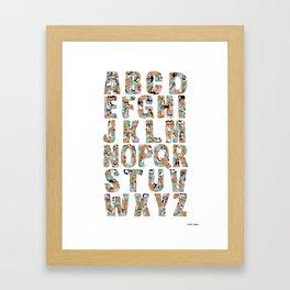 Catphabet Framed Art Print