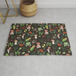 Forest. Brown pattern Rug