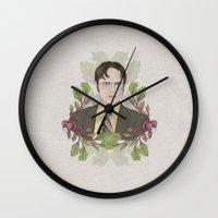 battlestar galactica Wall Clocks featuring Bears, Beets and Battlestar Galactica by Laura Francis Design